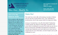 Dermatology Associates of Atlanta E-Newsletter