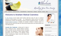 Abraham Medical Cosmetics Website