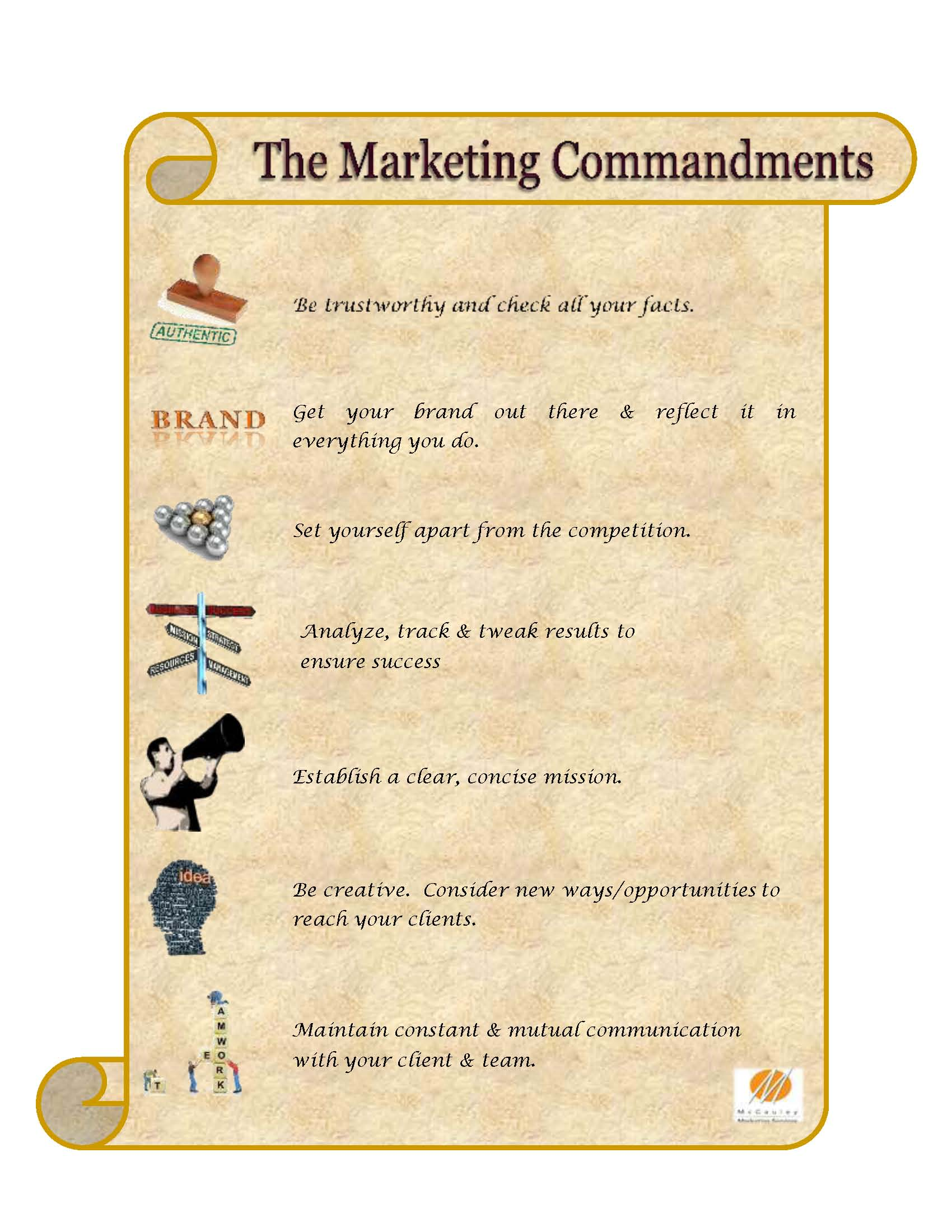 MCS The Marketing Commandments graphic FINAL